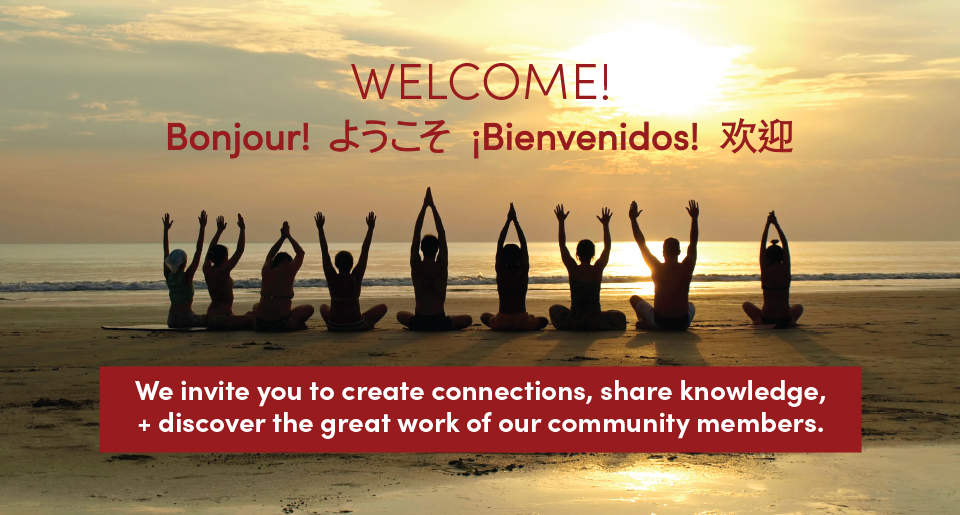 Welcome! We invite you to create connections, share knowledge, + discover the great work of our community members.
