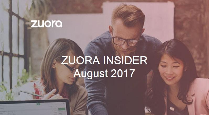 Zuora Insider Aug 2017