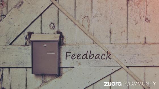 Zuora Community Feedback