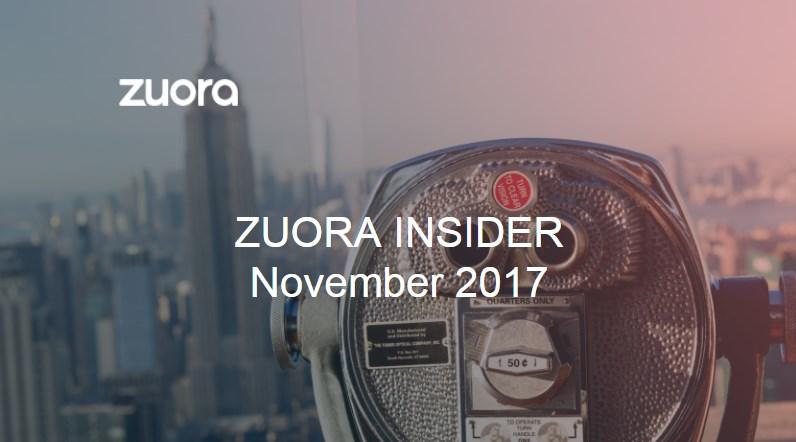 Zuora Insider Oct Nov17